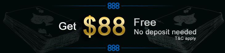 Get $88 free at poker room 888 Poker simply for creating an account