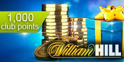 William Hill: 1000 Club Points for free