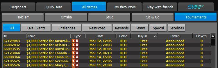 888.com poker schedule