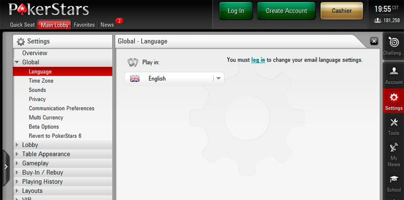 pokerstars com login page