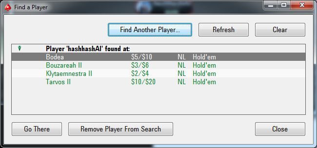 pokerstars find player