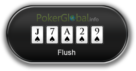 Poker Hand Rankings - Flush