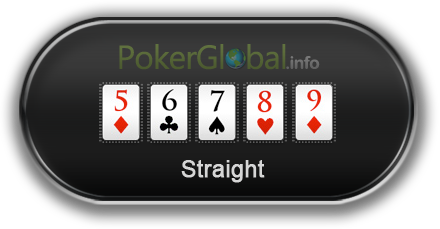 Poker Hand Rankings - Straight