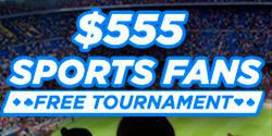 Freeroll $555 Sport Fans Free Tournament at 888 Poker