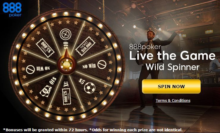 888 Poker play for free with Wheel of Fortune
