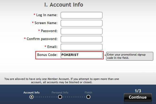How to register at AmericasCardroom - account info