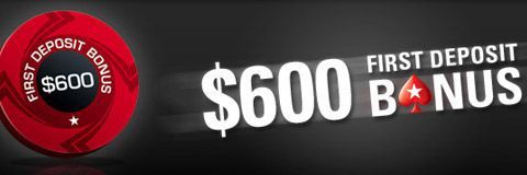 PokerStars 100% up to $600 first deposit bonus